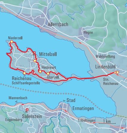 Insel Reichenau Karte.Insel Reichenau Unesco Welterbe Erwandern A Vogel