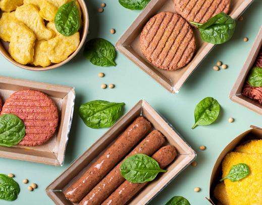 verschiedene Fleischersatzprodukte