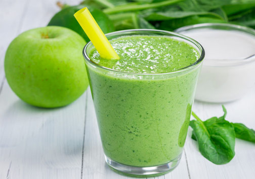 Apfel-Spinat-Smoothie