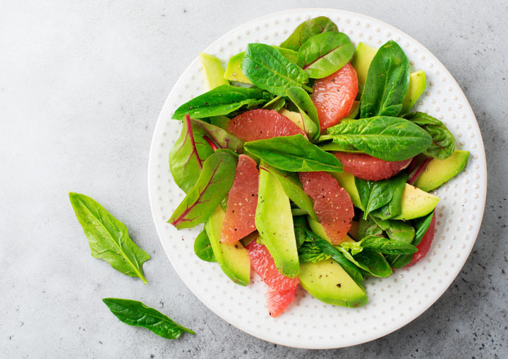Avocado Grapefruit Salat
