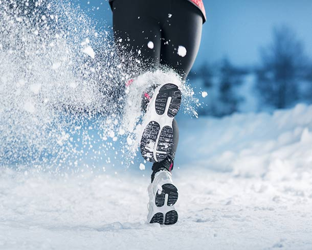 Outdoor Sport im Winter